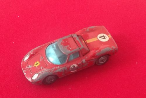 Corgi #314 - Original - Ferrari Berlinetta 250 Le Mans ( Rear exhaust pipes broken off )